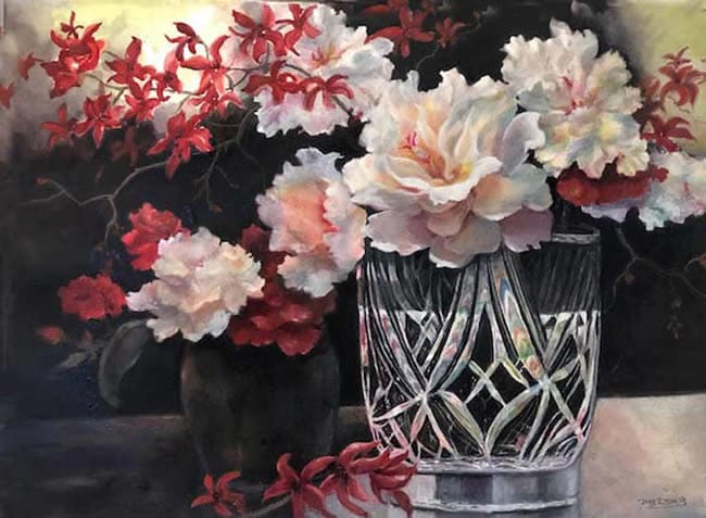 "JUNG LEA SMITH, ""Peonies,"" OUTSTANDING ACHIEVEMENT AWARD"