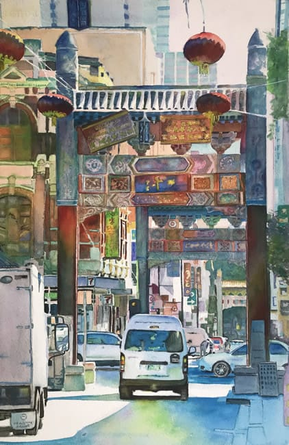 "TAMMY WIEDENHAEFER, ""Chinatown, Melbourne,"" AWARD OF EXCELLENCE"