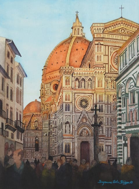 "SUZANNE LOHR SLIGER, ""Cathedral of Santa Maria del Fiore Sunset"""
