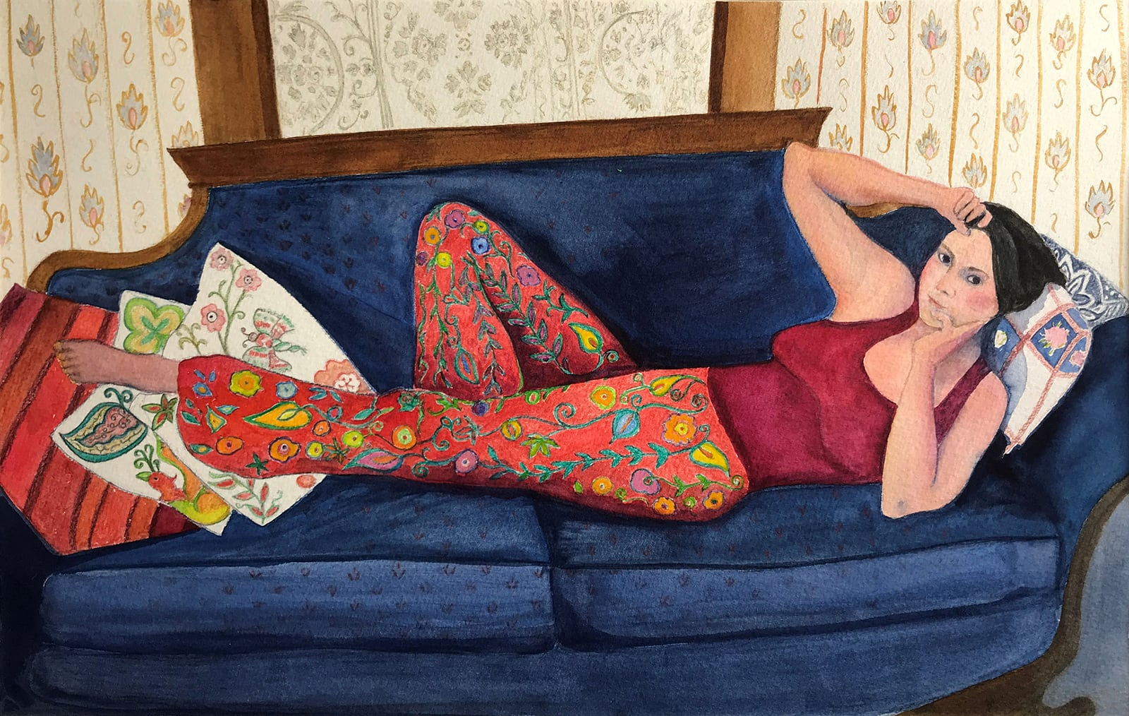 Amy Reclining-Karen Anderson Schwartz